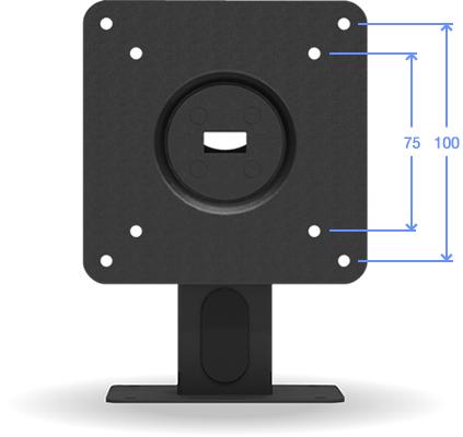 VESA 100-75 Compatible Surface Mount