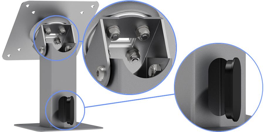 VESA 360 Tilting Surface Mount Adjustable - Wire Management