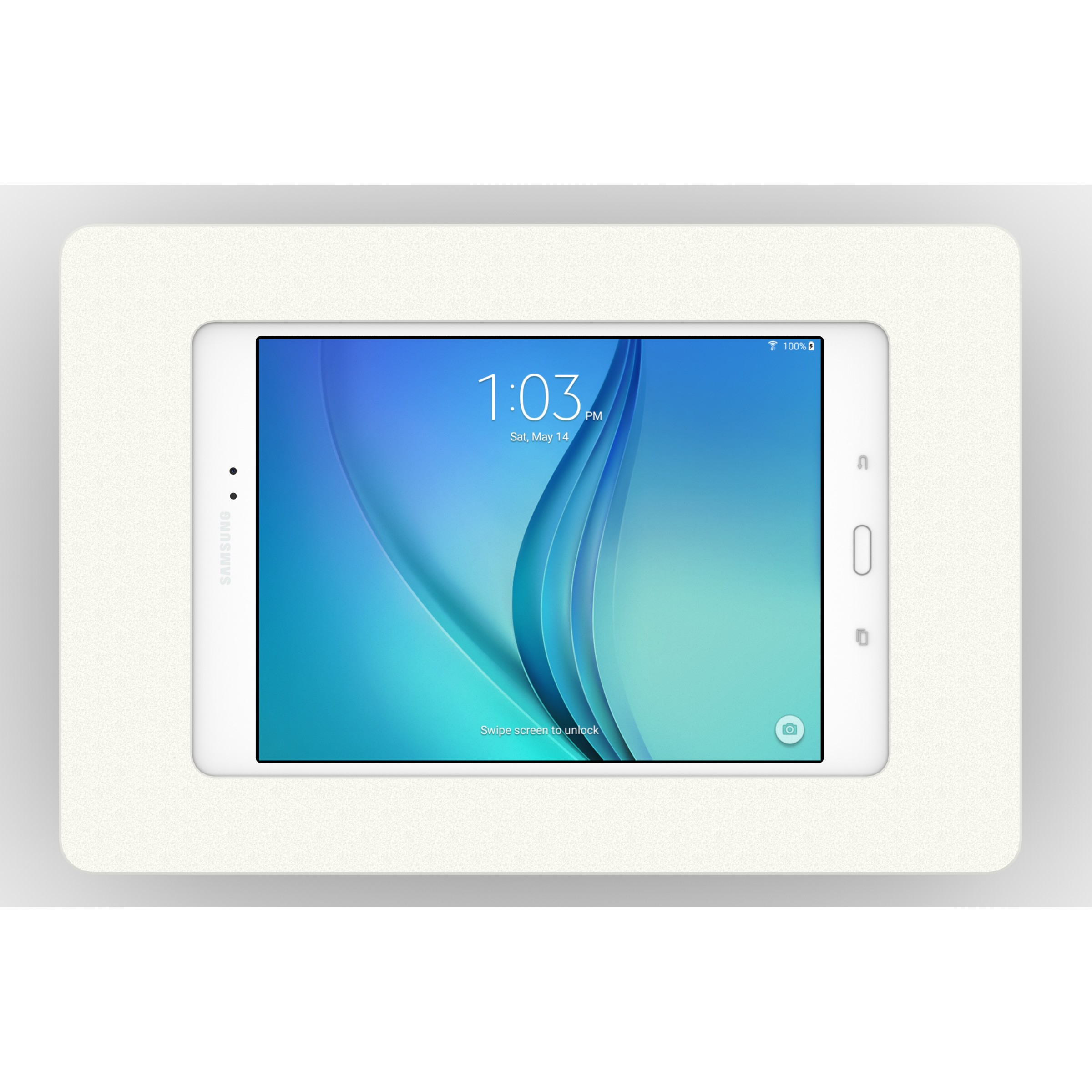 tilting vesa wall mount samsung galaxy tab a 80 white front view