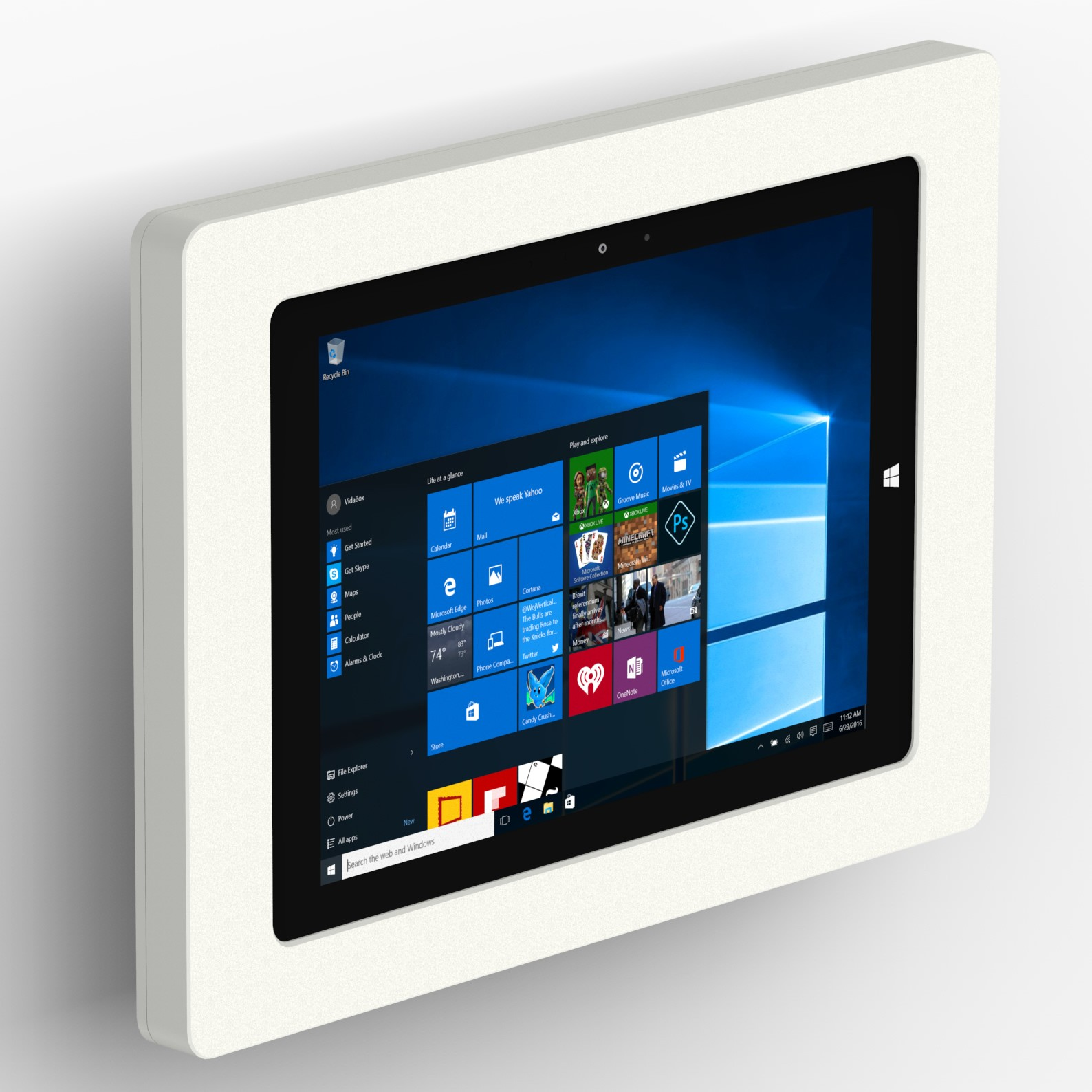 Tilting Wall Microsoft Surface 3 Tablet Mount White