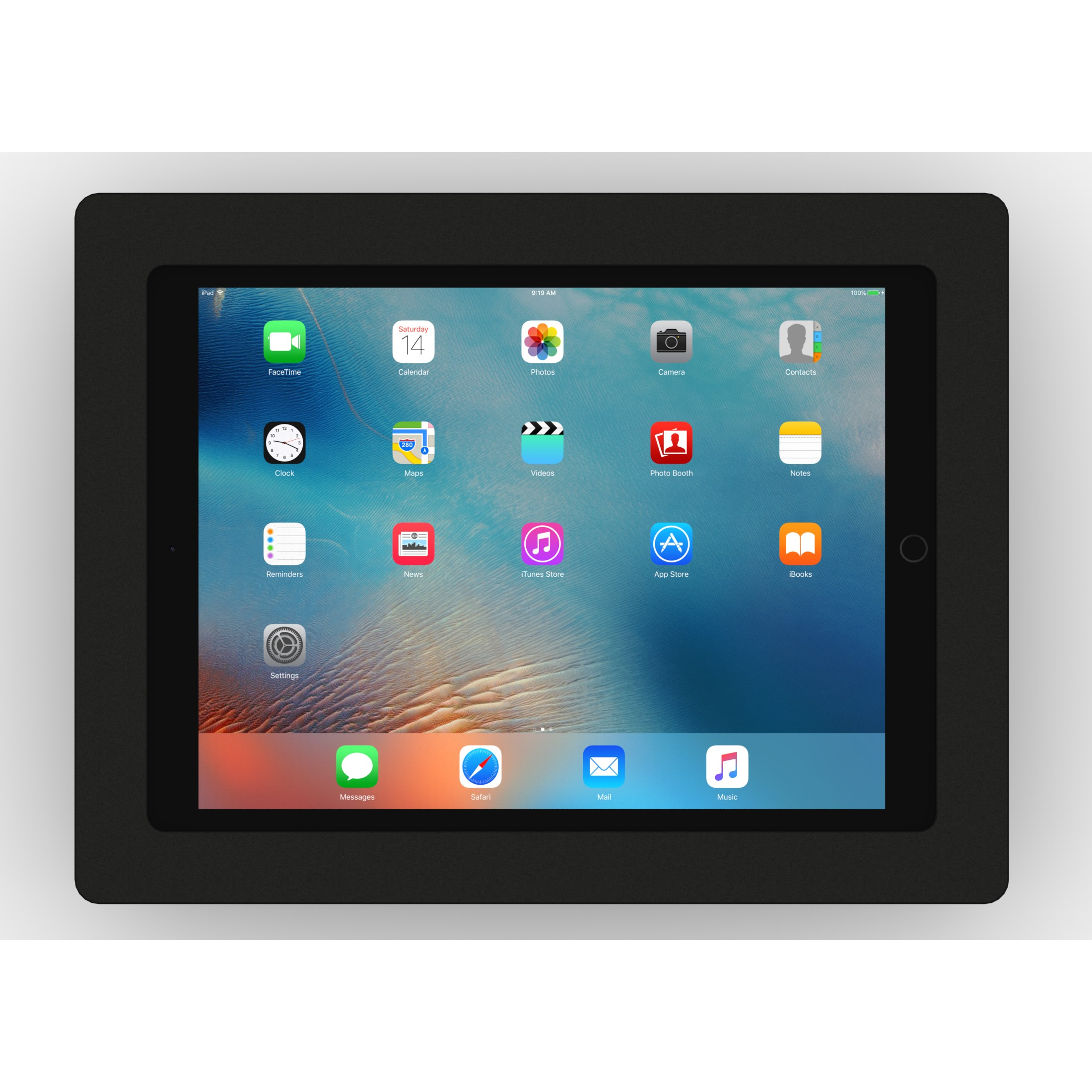 Tilting Wall12 9 Inch Ipad Pro Tablet Mount Black