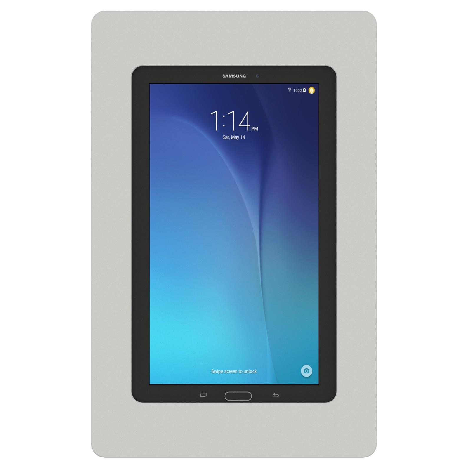 vidamount vesa tablet enclosure samsung galaxy tab e 9 6 light grey. Black Bedroom Furniture Sets. Home Design Ideas