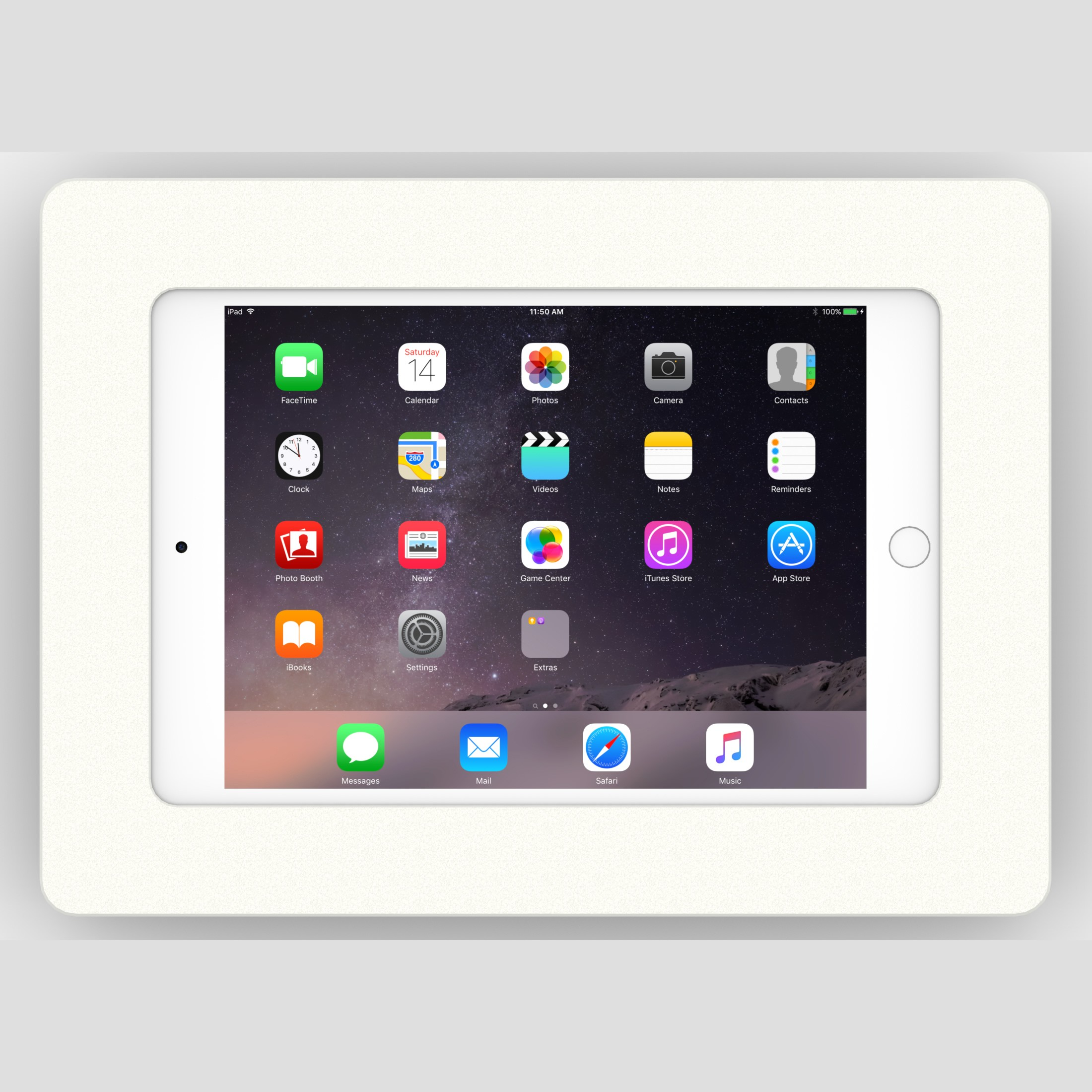 Fixed Wall Ipad Tablet Surface Mount Vidabox Kiosks