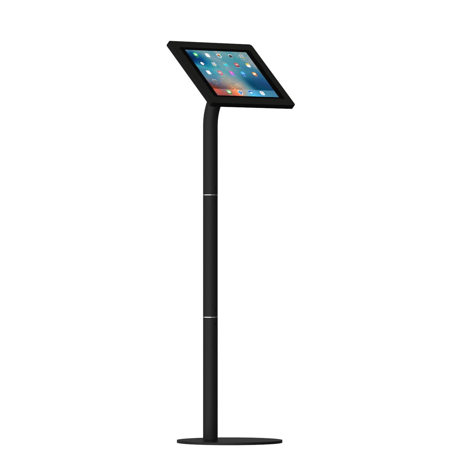 12.9-inch iPad Pro Black Enclosure w. Fixed Floor Stand ...