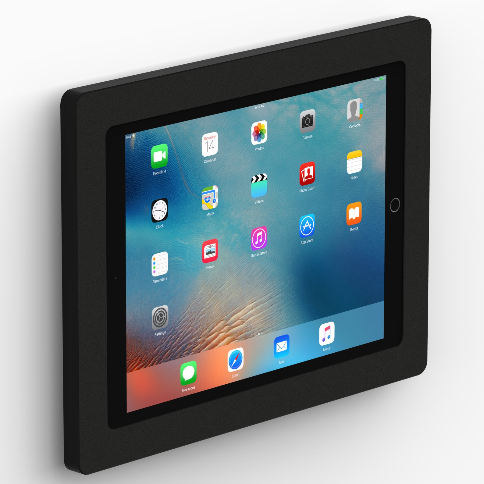 Fixed Slim Wall 12 9 Inch Ipad Pro Tablet Mount Black