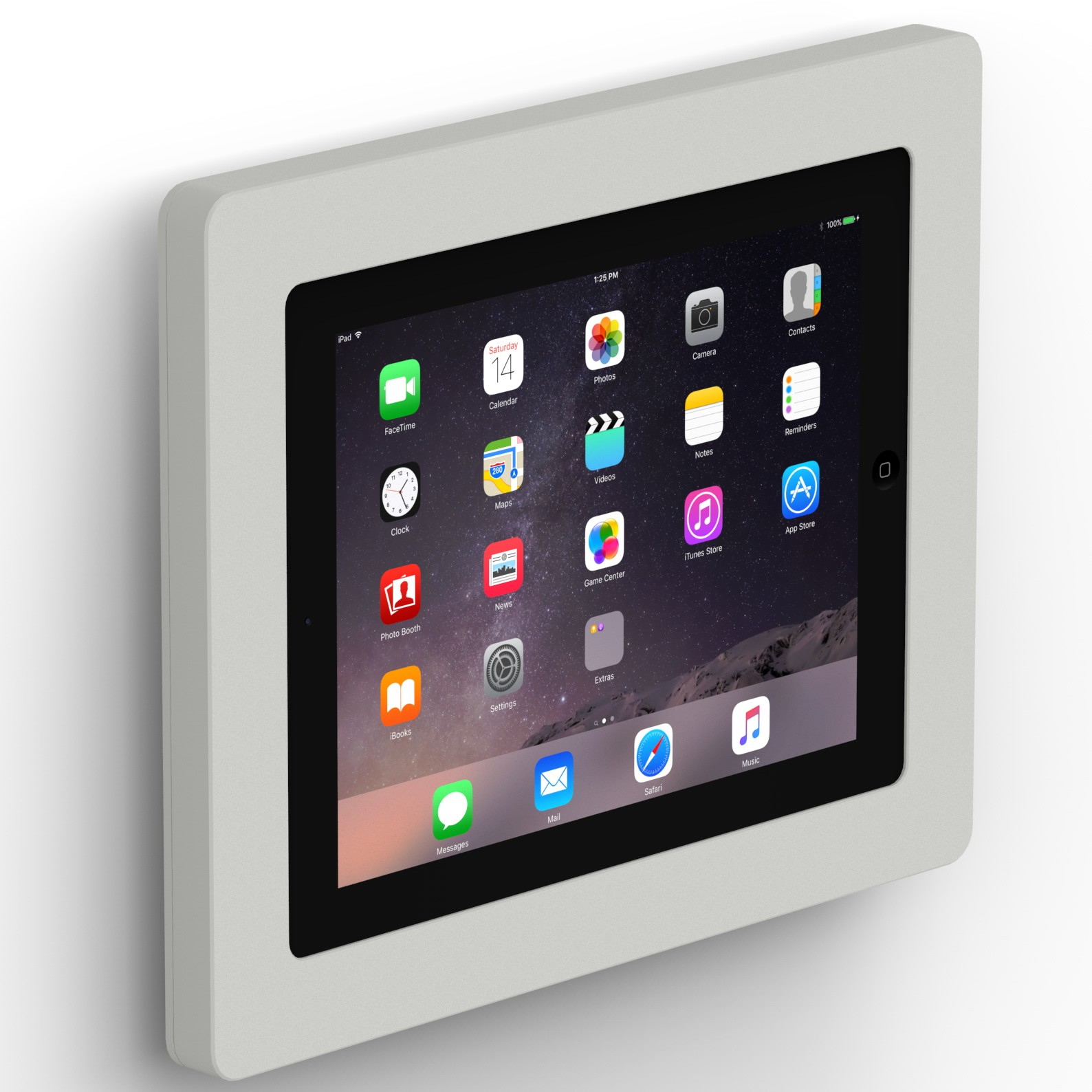 fixed slim vesa wall mount ipad 2 3 u0026 4 light grey