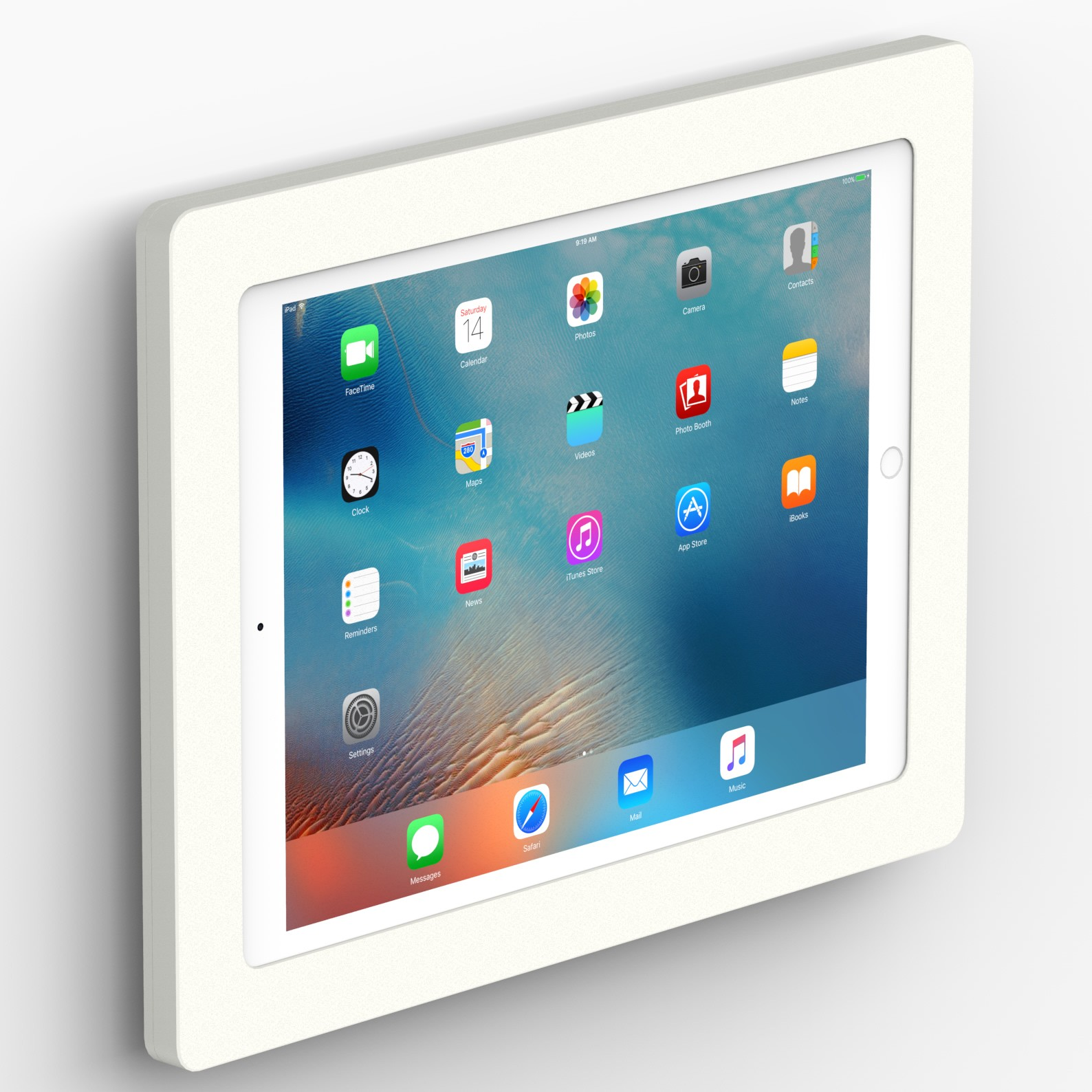 Fixed Slim Wall 12 9 Inch Ipad Pro Tablet Mount White