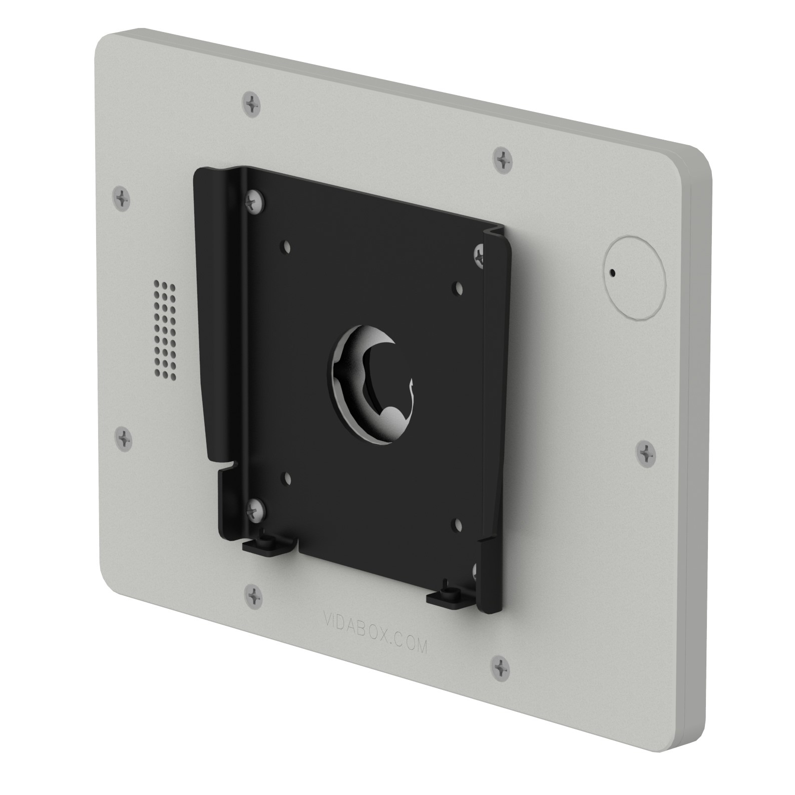fixed slim vesa wall mount ipad mini 4 light grey back isometric view - Tablet Mount