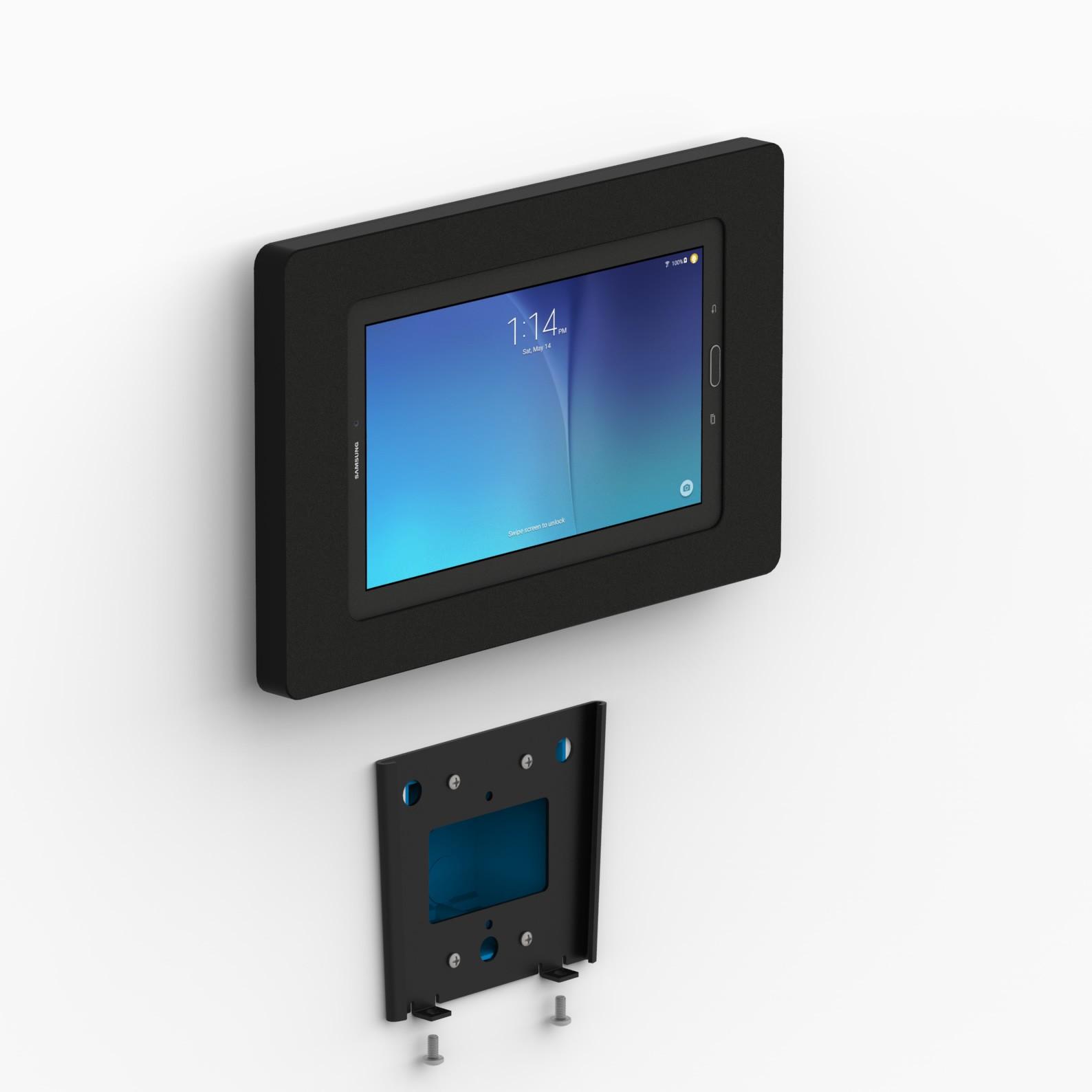 Fixed Slim Wall Samsung Galaxy Tab E 9 6 Tablet Mount Black