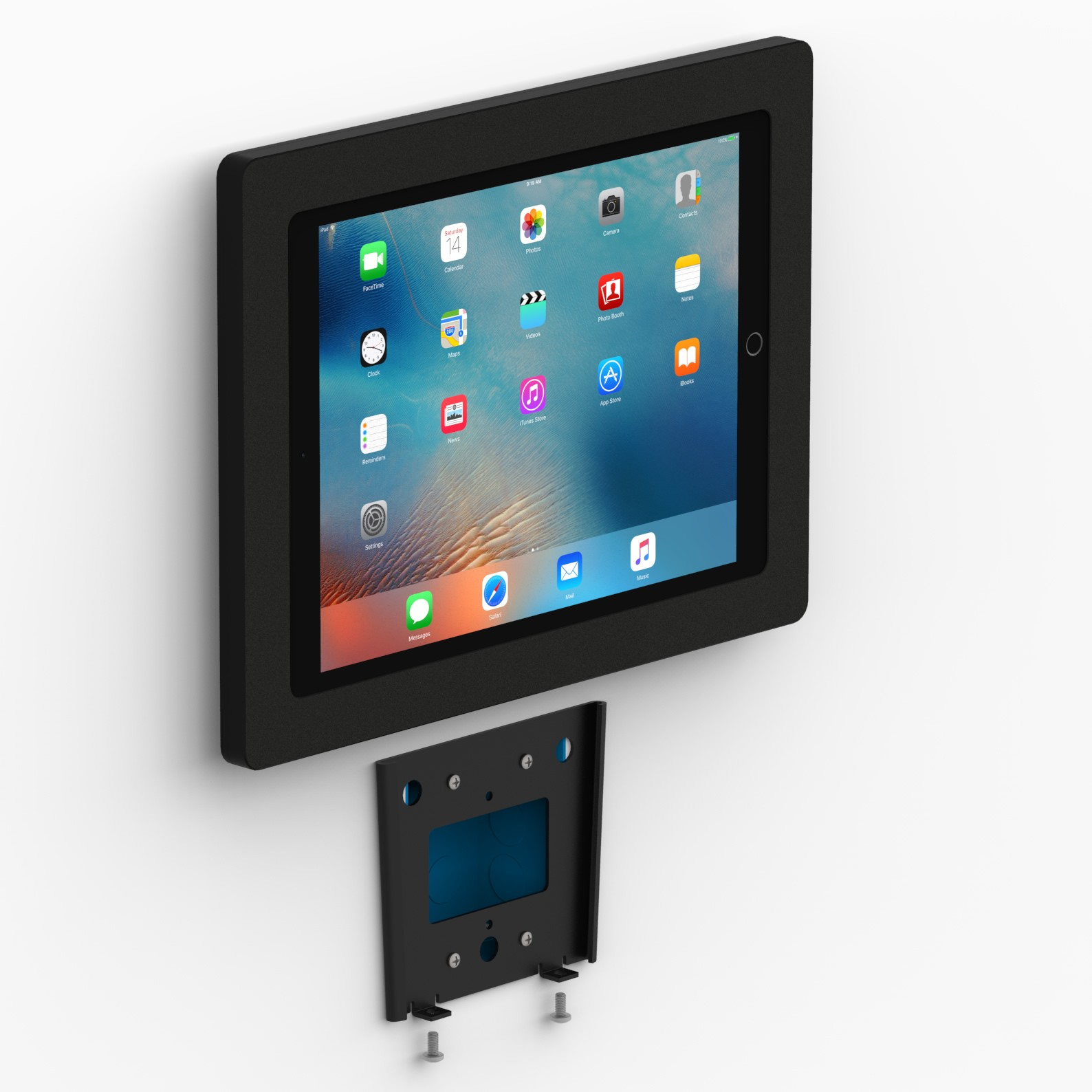 Fixed Slim Wall 12 9 Inch Ipad Pro Tablet Mount Black