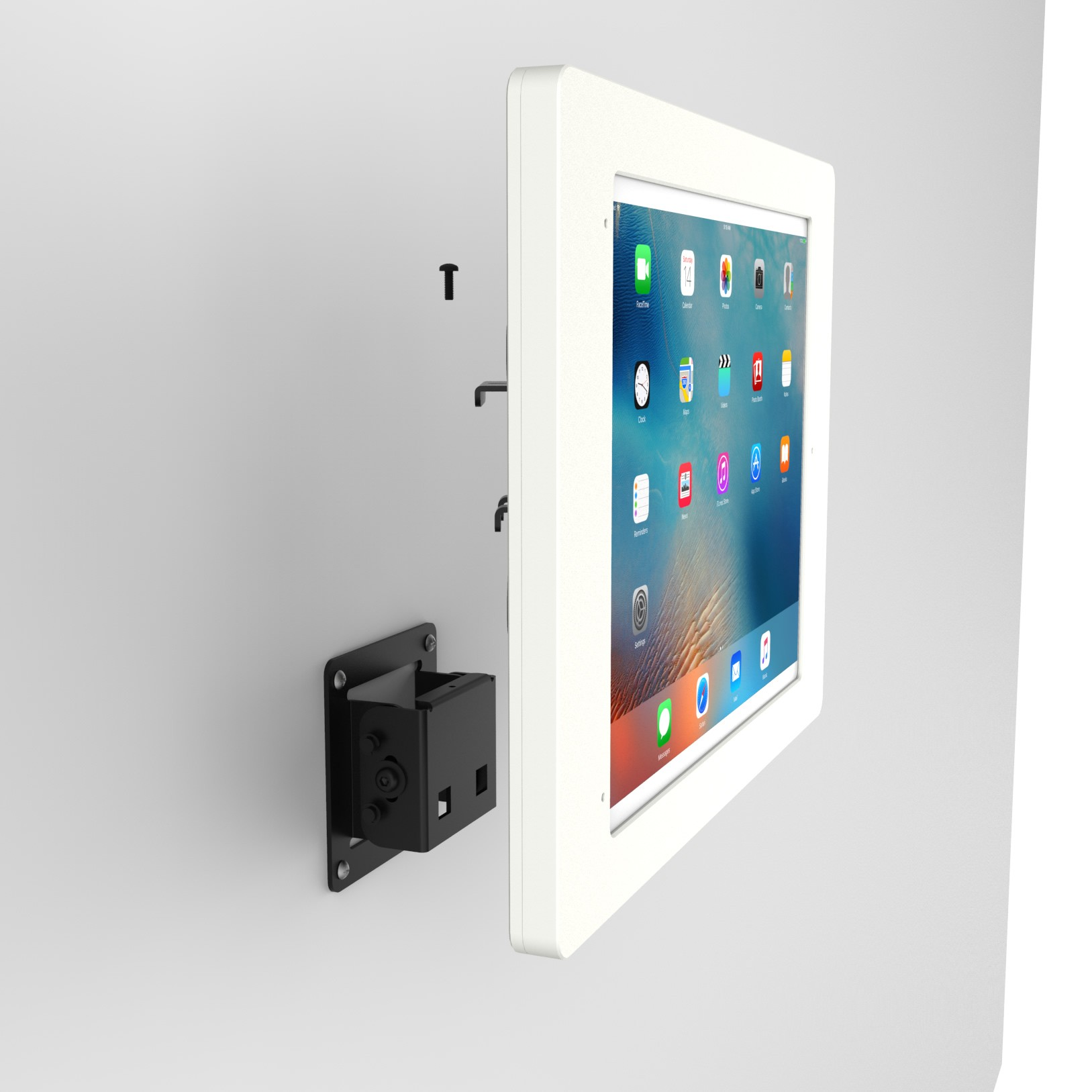 Tilting Wall12 9 Inch Ipad Pro Tablet Mount Home Button
