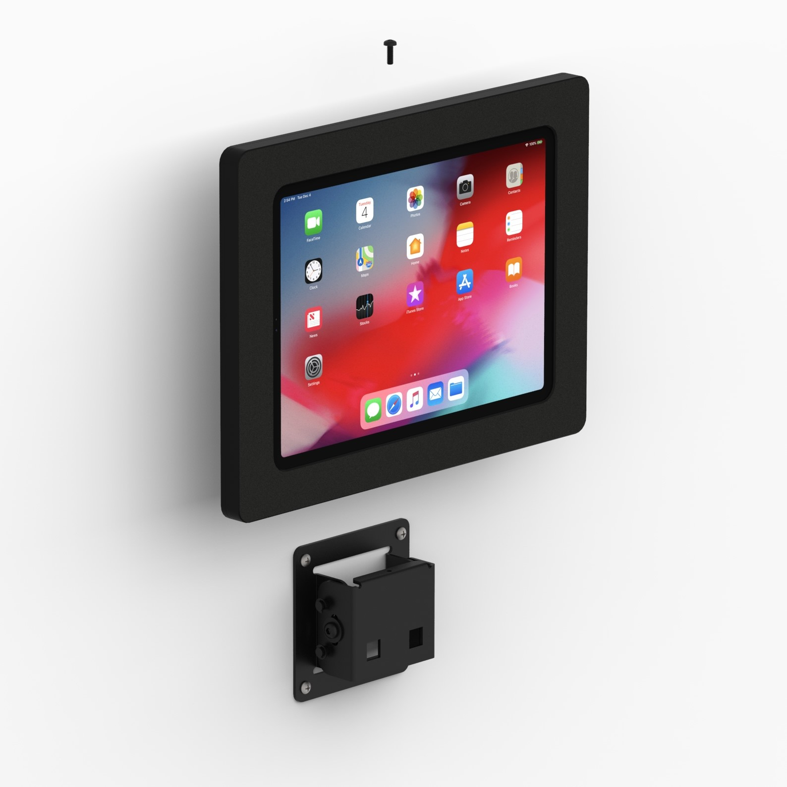 Tilting Wall 11 Inch Ipad Pro Tablet Mount Black