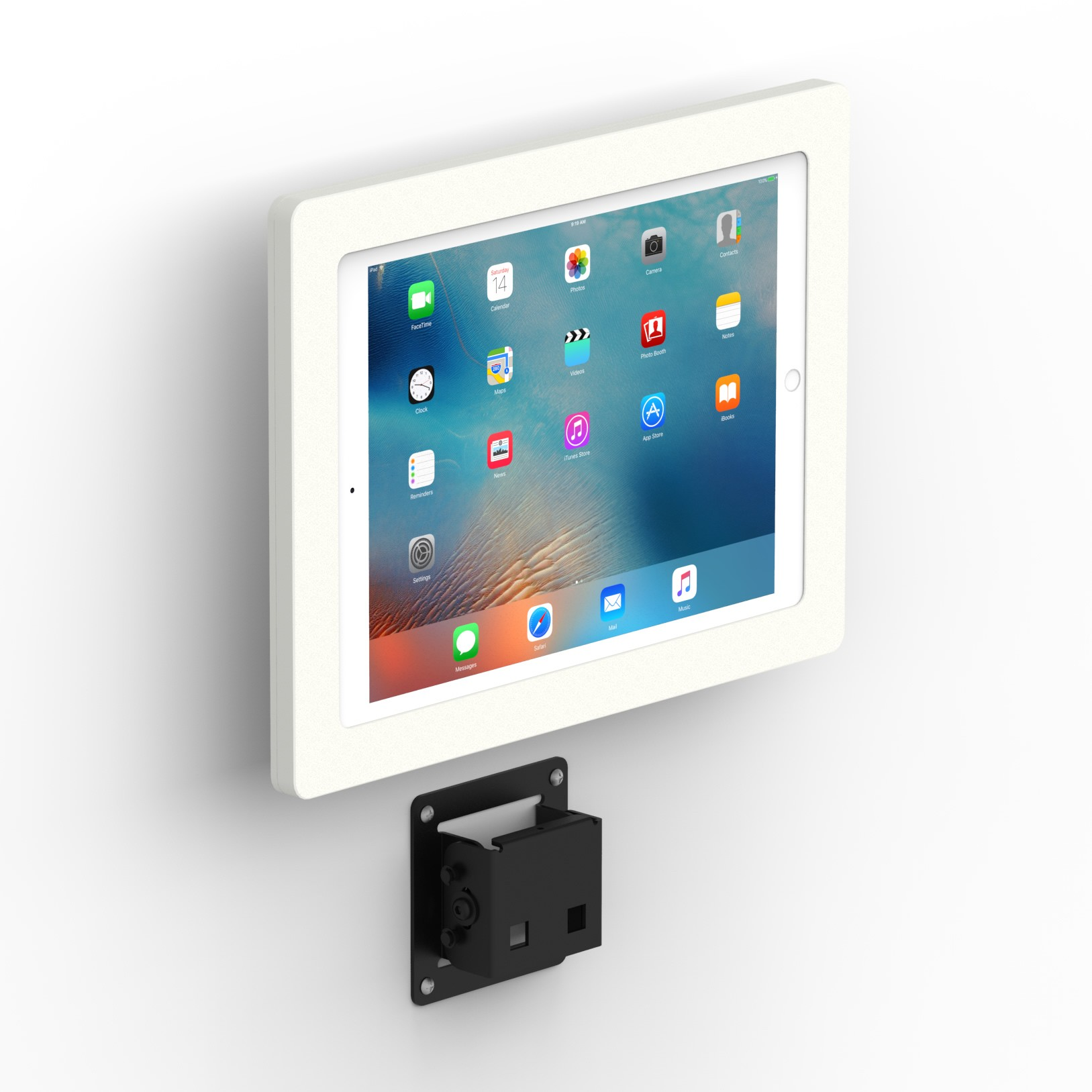 Tilting Wall12 9 Inch Ipad Pro Tablet Mount White
