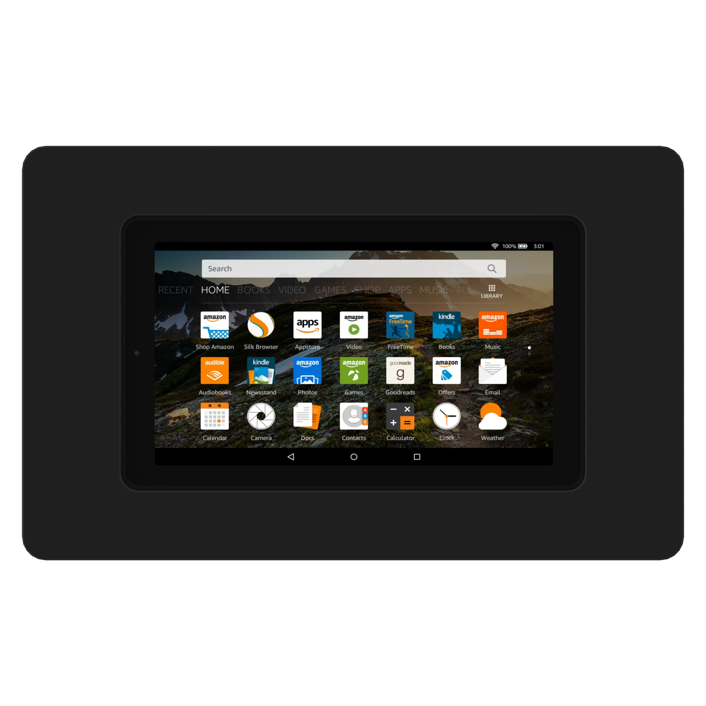 Black Amazon Fire 5th Gen 7 Quot Vidamount On Wall Tablet