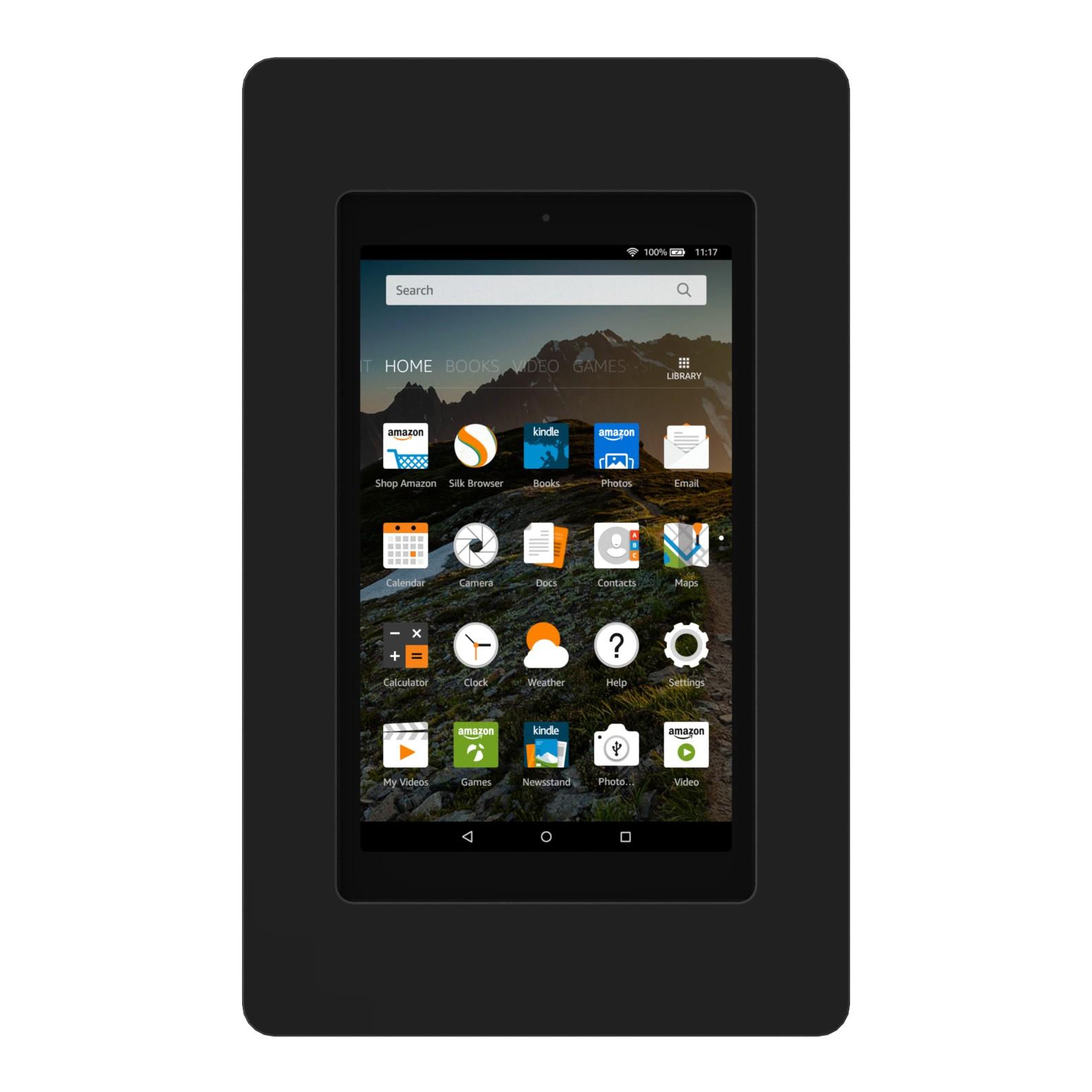 Black Amazon Fire 5th Gen Hd8 Vidamount On Wall Tablet