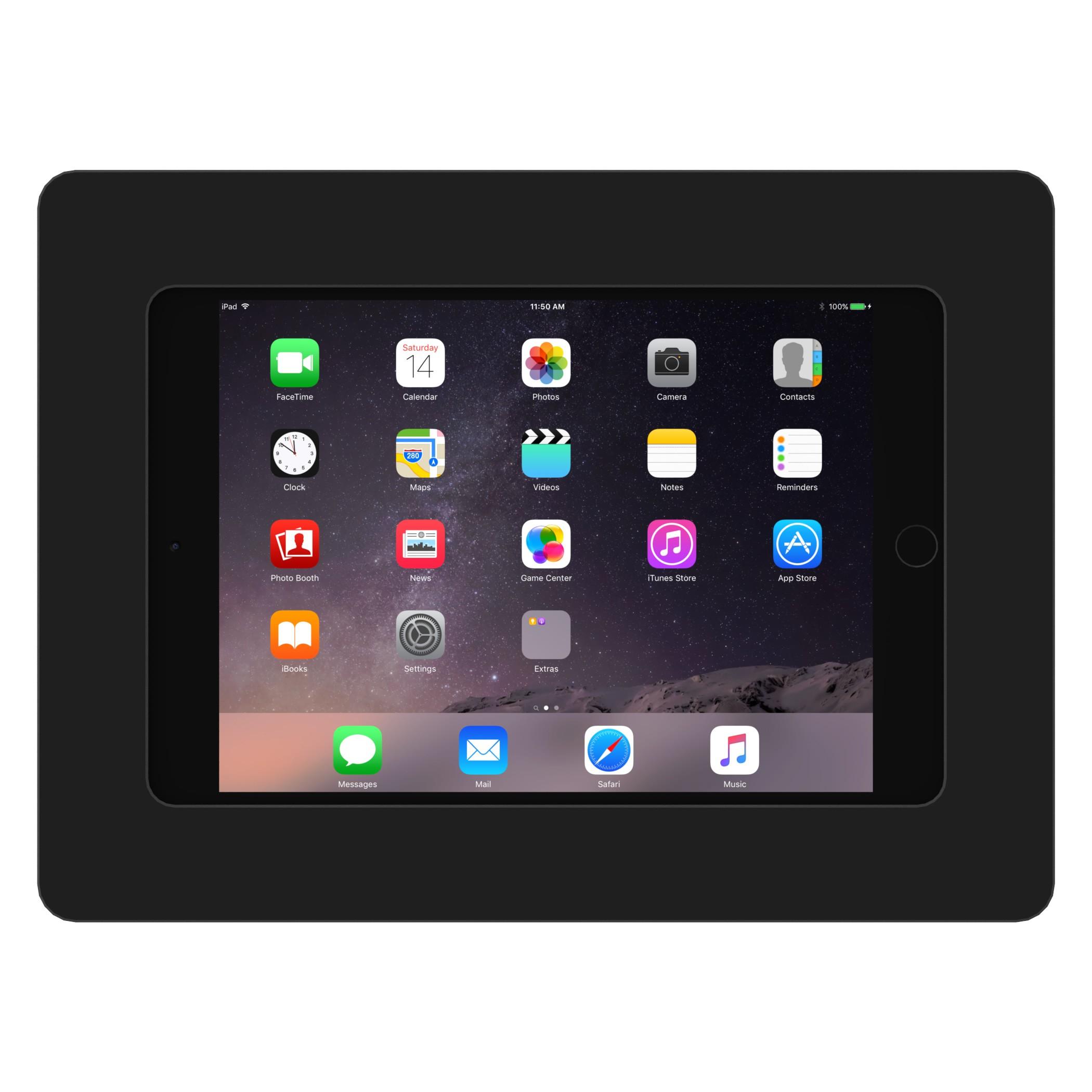 Black Ipad Mini 4 Vidamount On Wall Tablet Mount