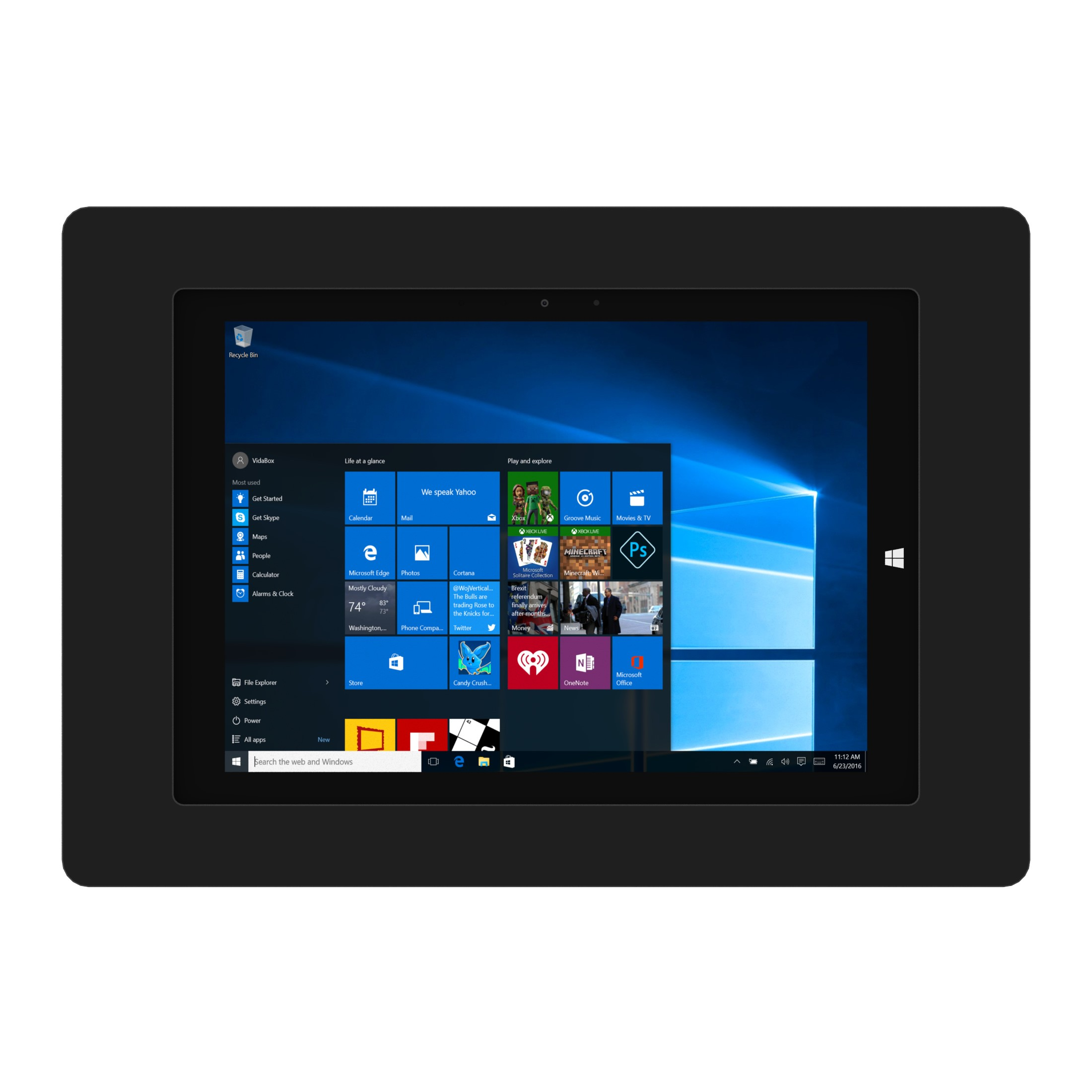 Black Microsoft Windows Surface 3 Vidamount On Wall