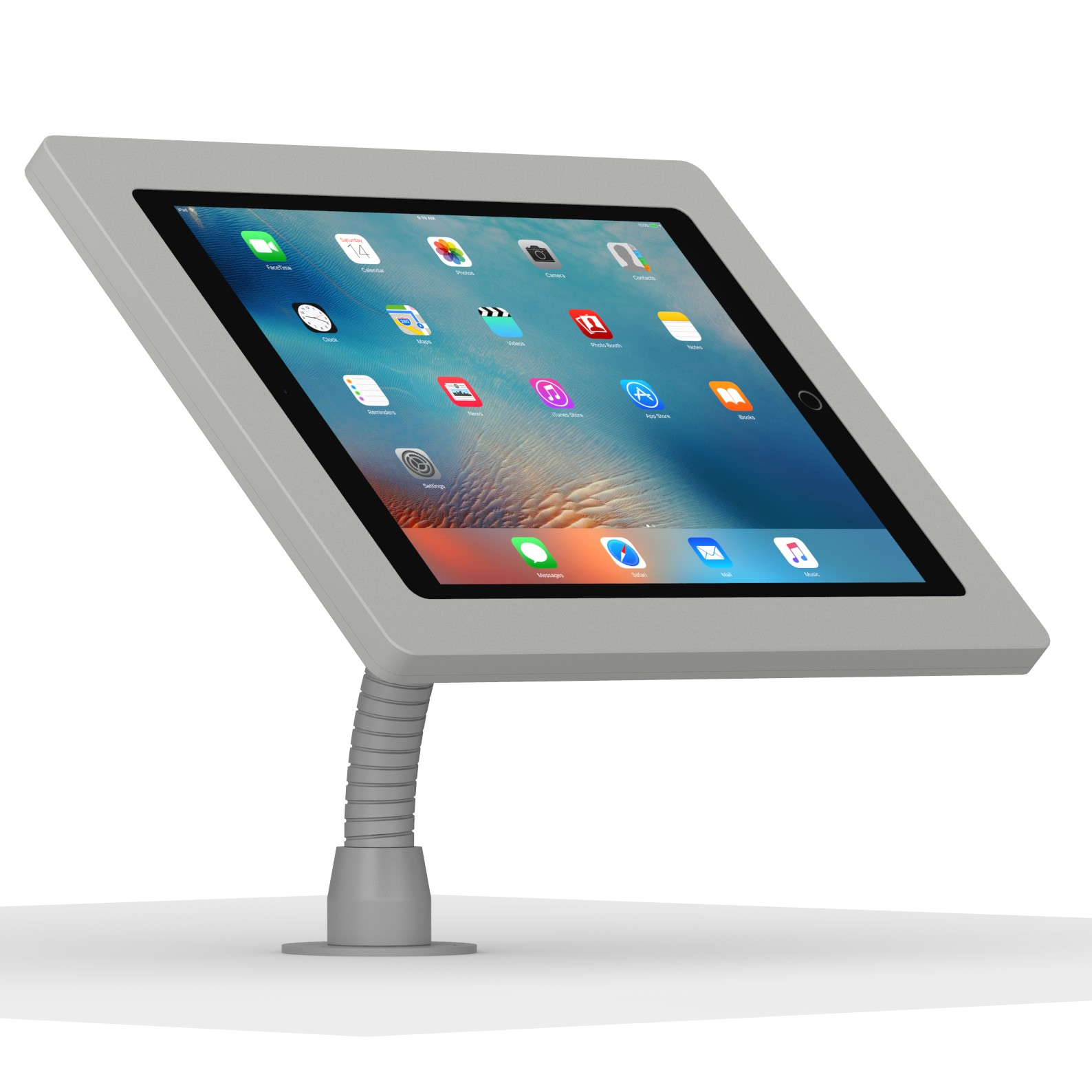 12 9 Inch Ipad Pro Light Grey Enclosure W Flexible Desk