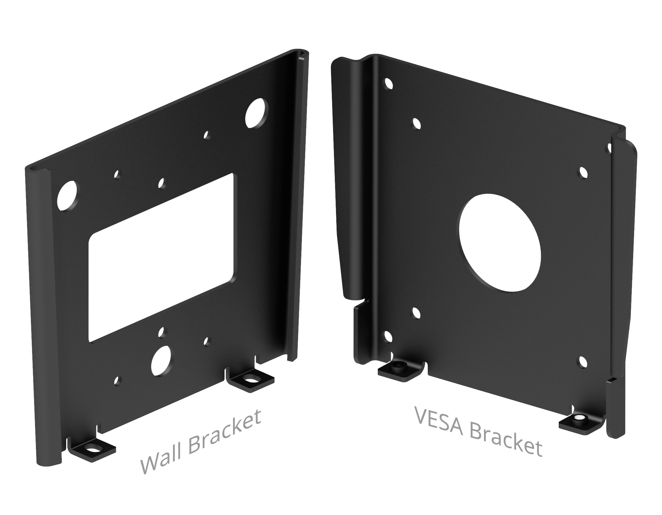 center iso view fixed vesa slim wall mount
