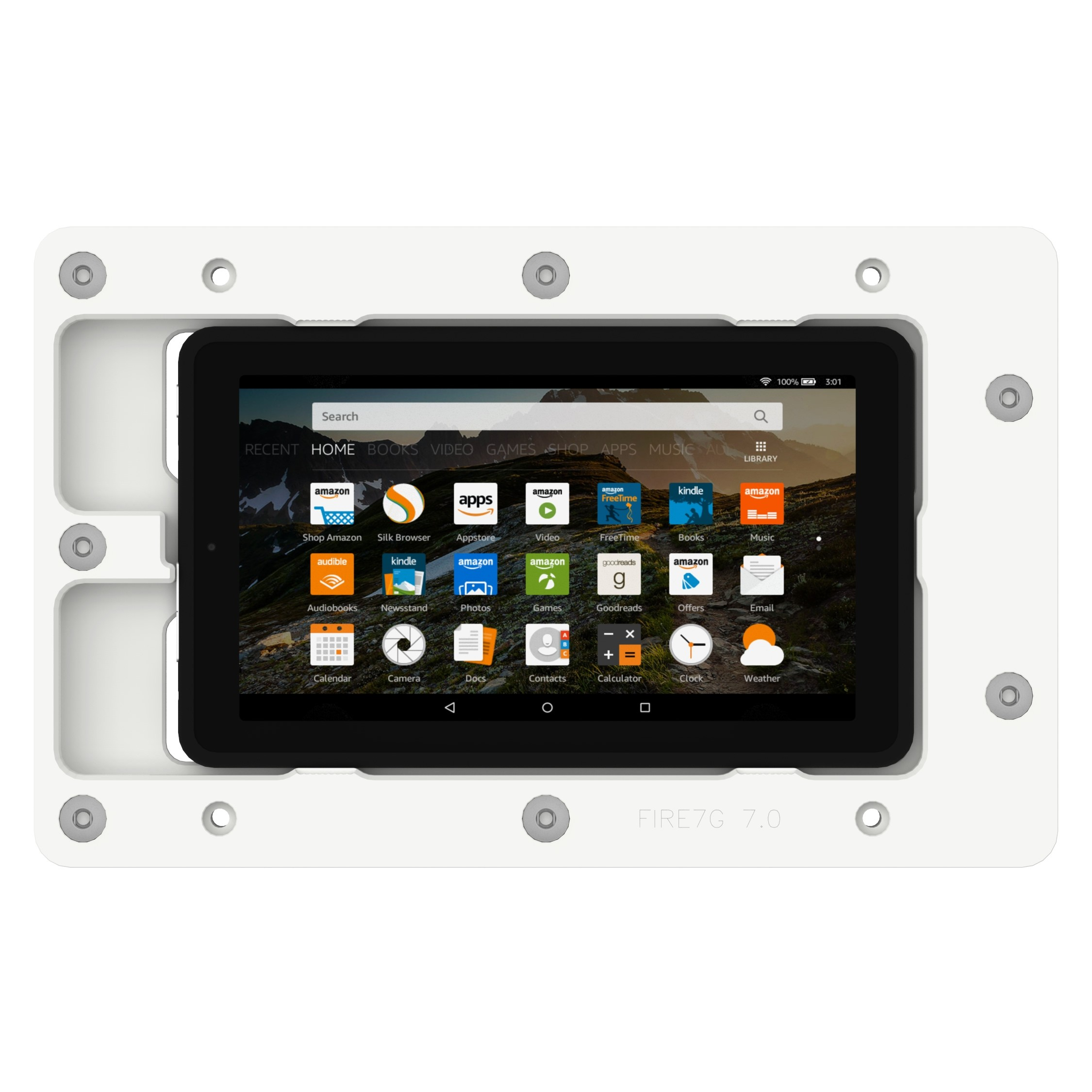 White Amazon Fire 7th Gen 7 Quot Vidamount On Wall Tablet