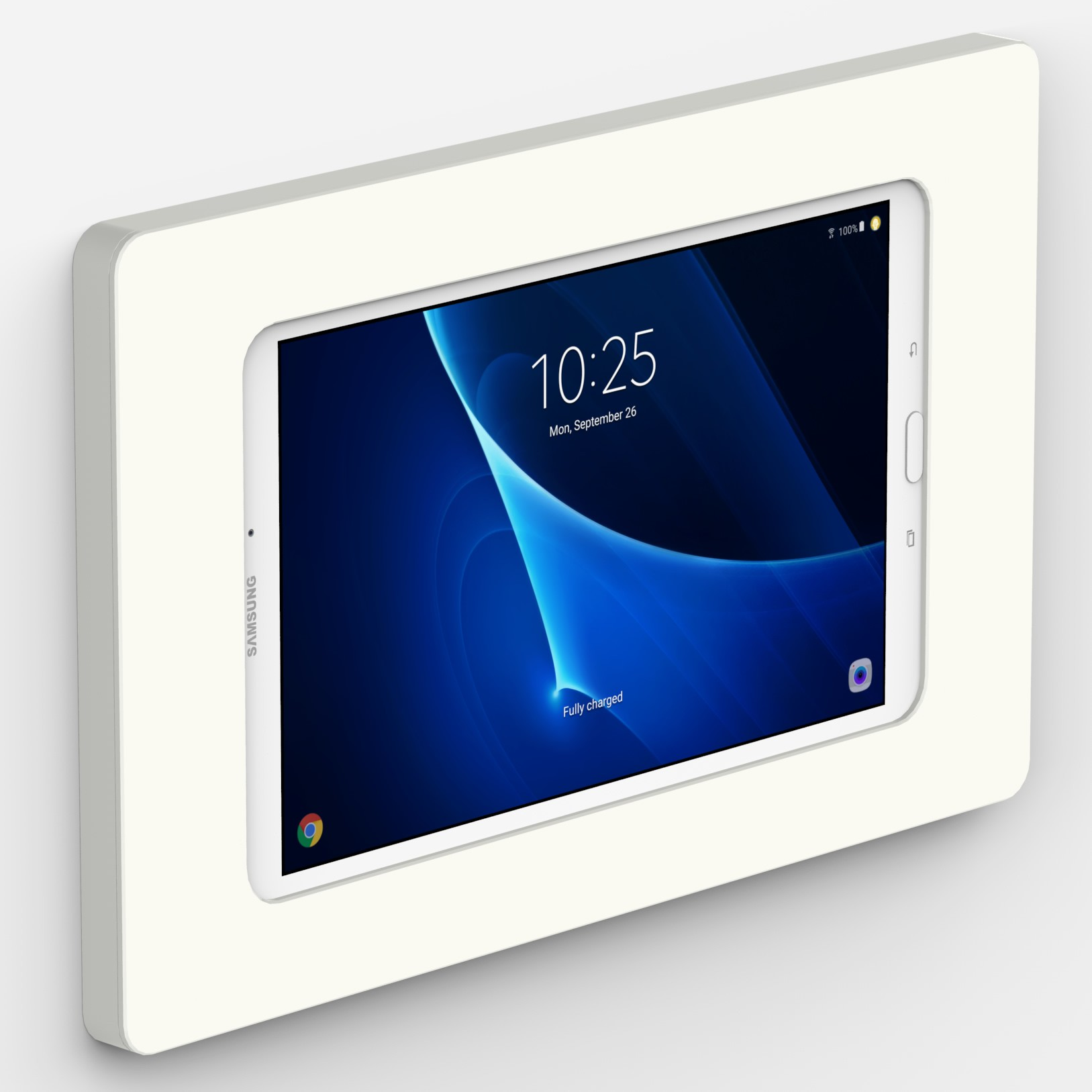 White Samsung Galaxy Tab A 10 1 Vidamount On Wall