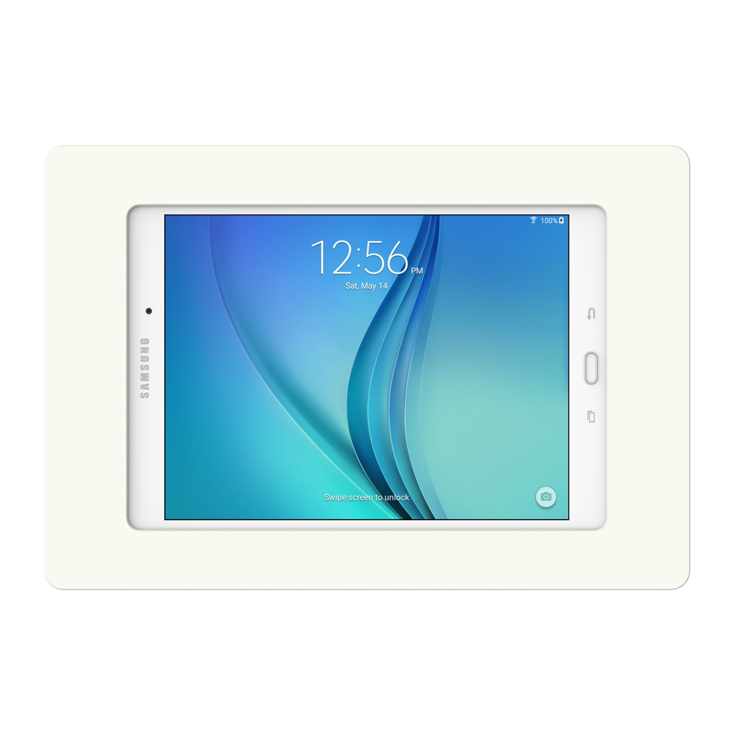 white samsung galaxy tab a 9 7 vidamount on wall tablet mount. Black Bedroom Furniture Sets. Home Design Ideas