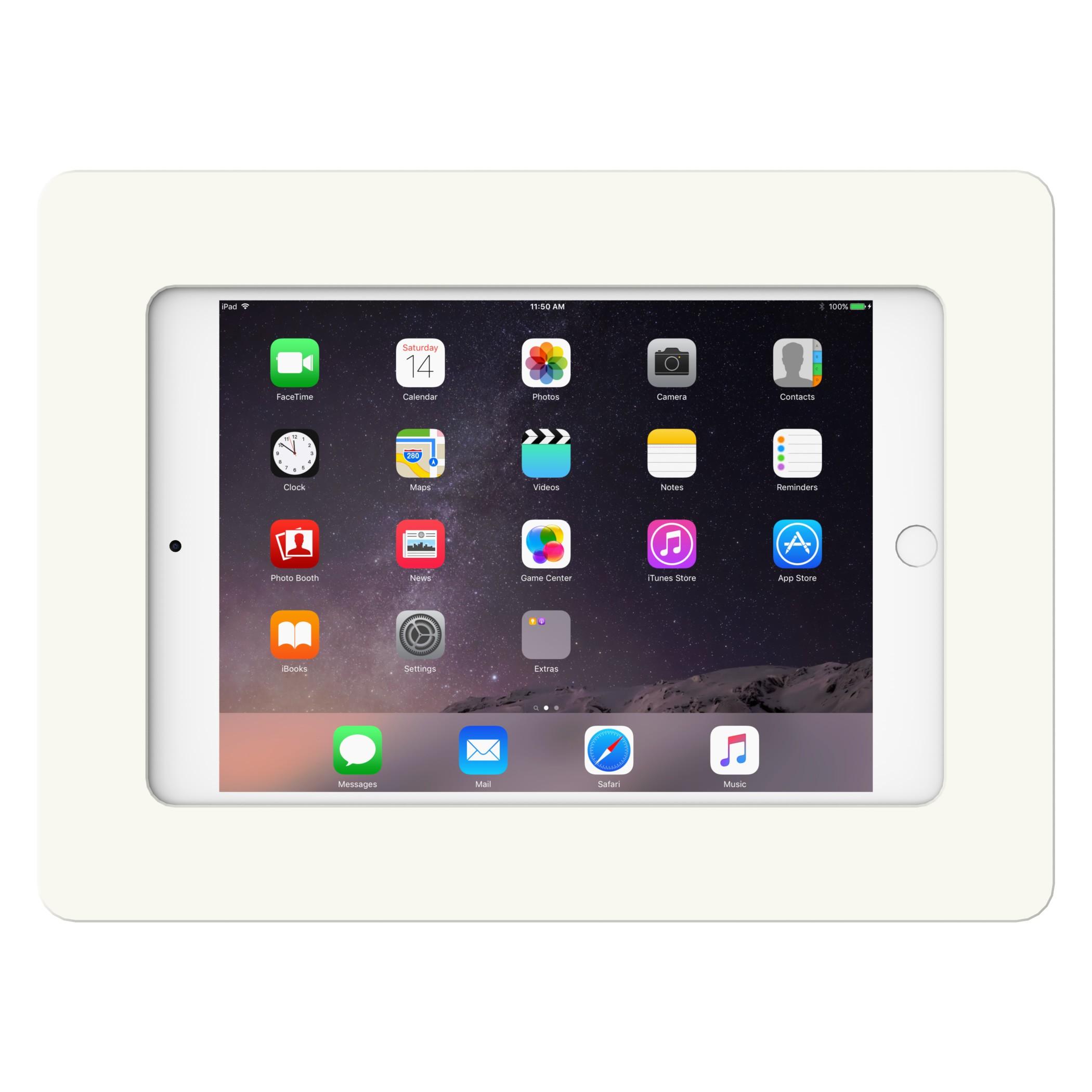 White Ipad Mini 4 Vidamount On Wall Tablet Mount