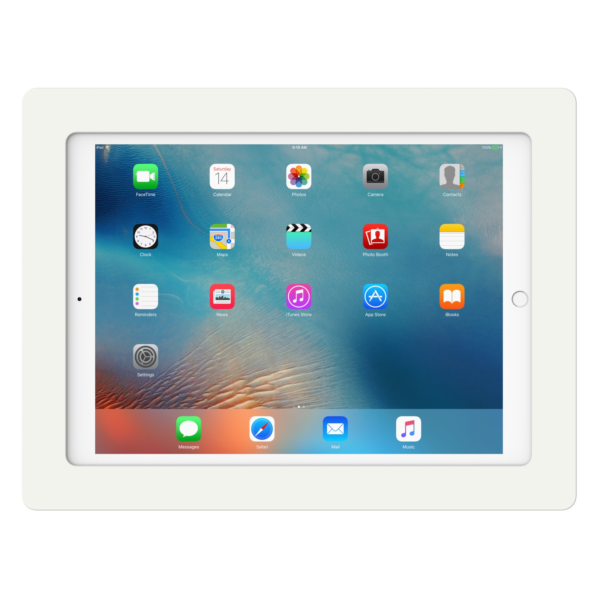 White 12 9 Inch Ipad Pro Vidamount On Wall Tablet Mount