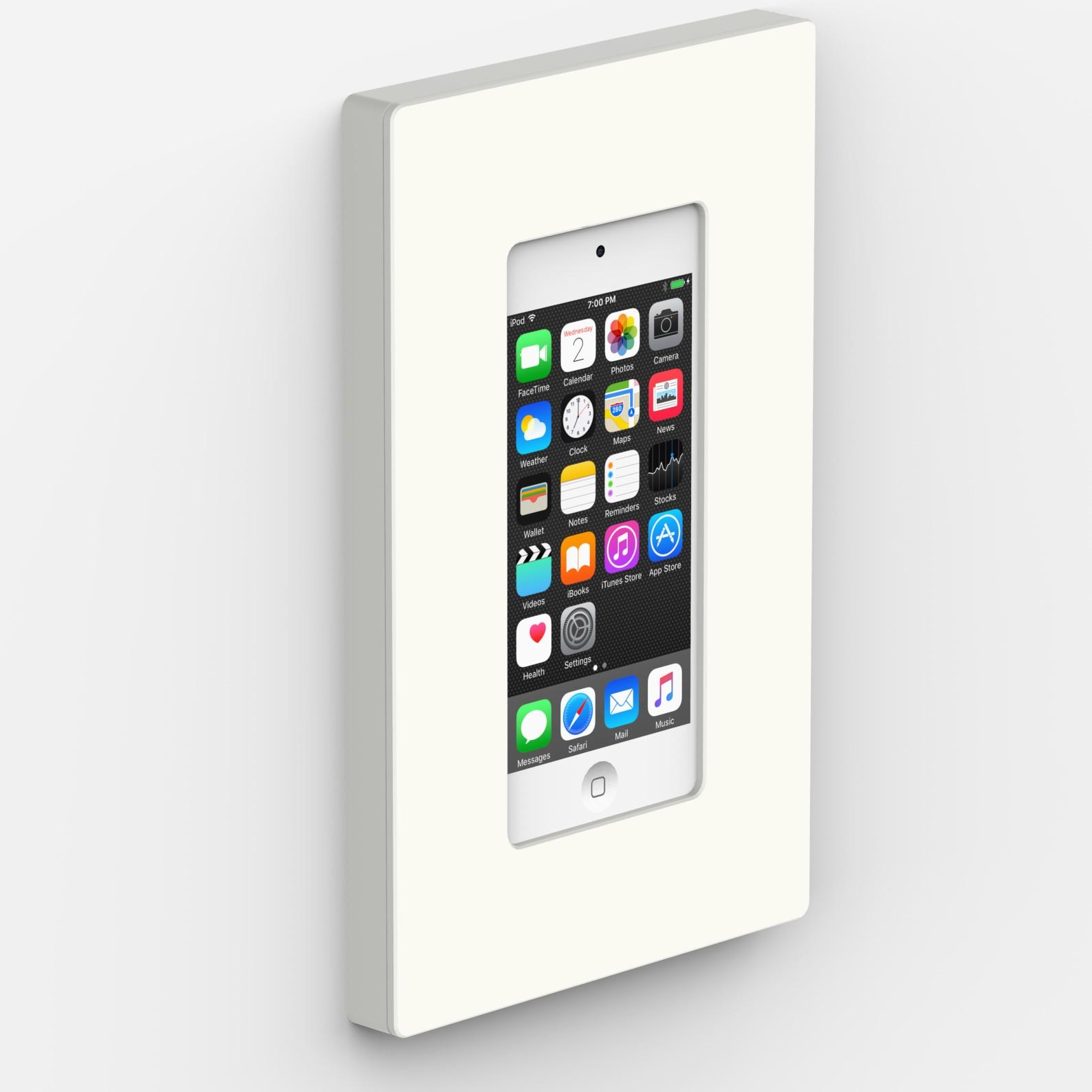 White - iPod 5th & 6th Generation - VidaMount On-Wall Enclosure Mount