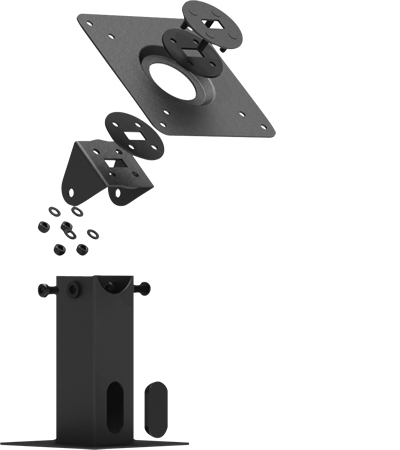 360 Tilting VESA Surface Mount Exploded View