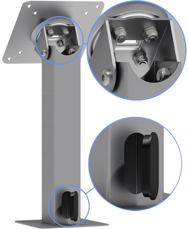 VESA 360 9-inch Rotating Tilting Surface Mount Adjustable - Wire Management