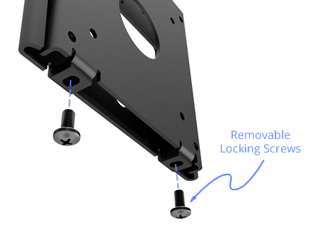 VESA 100-75 Removable or Secure Wall Mount