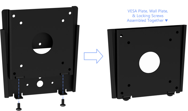 VESA Fixed Slim Wall Mount - Easy Assembly