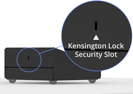Fixed Tilted Surface Mount Kensington Lock