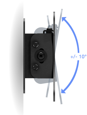 VESA 100-75 Compatible Tilting Wall Mount