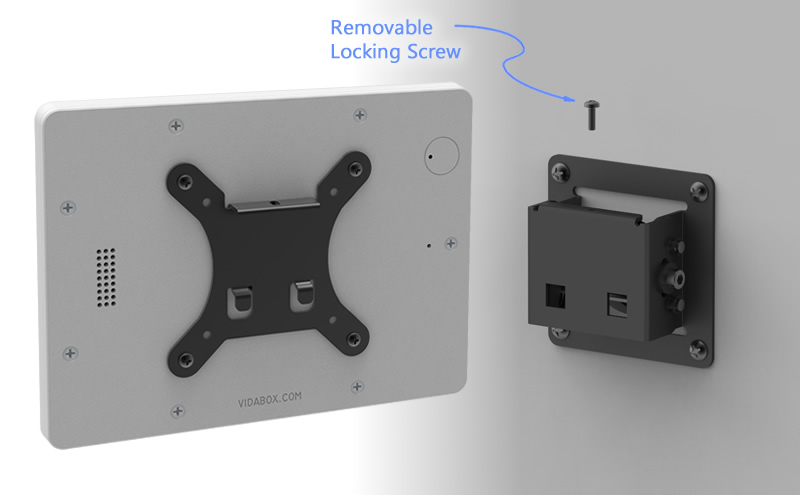 secure yet removable tablet wall mount bracket