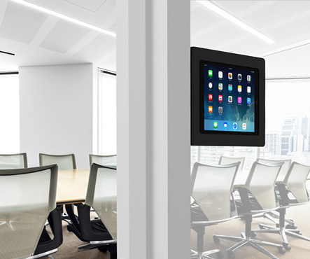 Glass Wall friendly Temporary Tilting iPad Tablet Mount