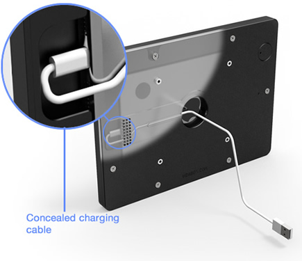 Clever Internal Cable Routing VESA Tablet Enclosure